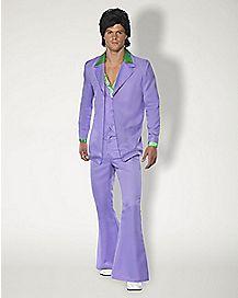 Adult Lavender 70s Suit Costume