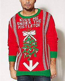 Adult Under the Mistletoe Sweater