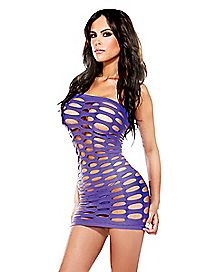 Pothole Tube Dress - Purple