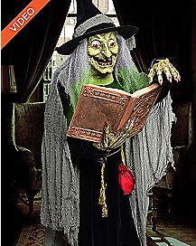 6 Ft Spell Speaking Witch Animatronics - Decorations