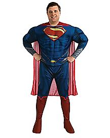 Adult Man of Steel Superman Plus Size Costume Deluxe- Superman Man of Steel