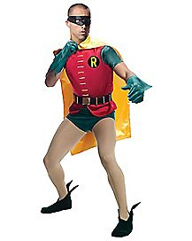 Adult Classic Robin Costume Deluxe - 1960s Batman TV Show