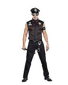 Adult Office Handsome Police Plus Size Costume