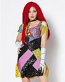 Adult Sally Glam Costume Deluxe - The Nightmare Before Christmas