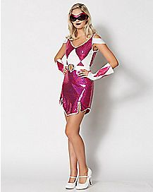 Adult Glam Pink Ranger Costume - Power Rangers