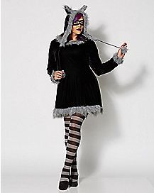 Adult Racy Raccoon Plus Size Costume