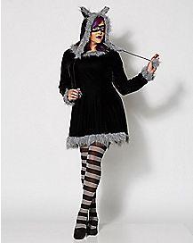 Adult Racy Raccoon Plus Size Costume
