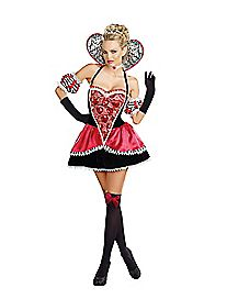 Adult Glittering Queen of Hearts Costume