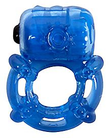 Climax Juicy Vibrating Cock Ring - 2 Inch Blue