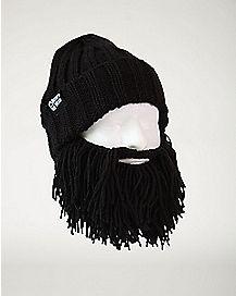 Black Vagabond Beard Beanie