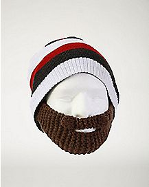 Striped Beard Beanie