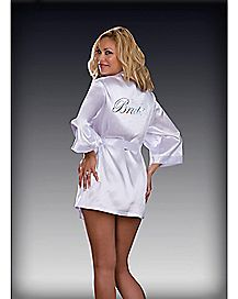 Plus Size Bride Robe and Slip Set