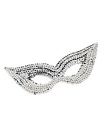 Sequin Mask Silver