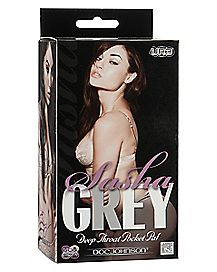 Porn Star Sasha Grey Deep Throat Stroker