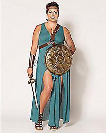 Adult Warrior Maiden Plus Size Costume