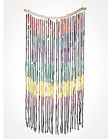 Rainbow Bamboo Curtain