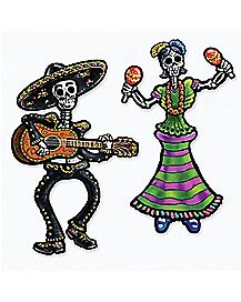14 in Day of the Dead Sugar Skull Skeletons - Decorations