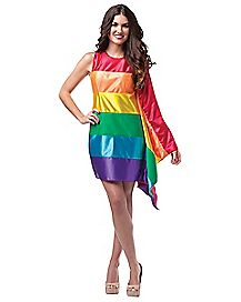 Adult Rainbow Flag Costume
