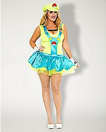 Adult Green Playful Plumber Plus Size Costume