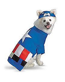 Captain America Dog Costume - Captain America