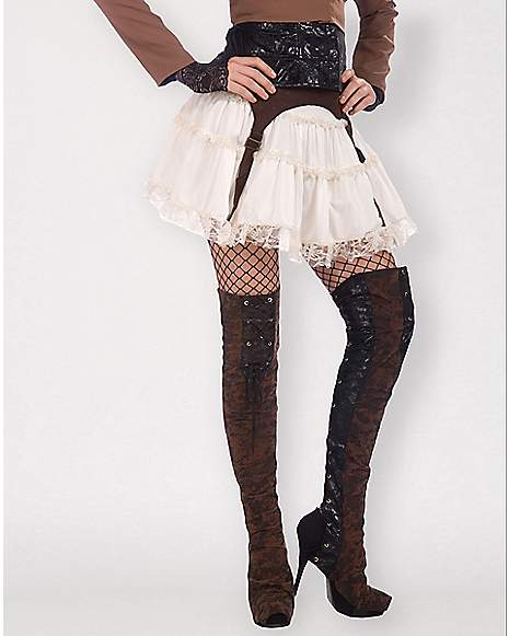 steunk thigh high boot covers spencer s