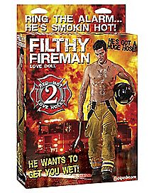 Filthy Fireman Blow Up Love Doll