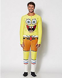 Adult Spongebob One-Piece Pajamas