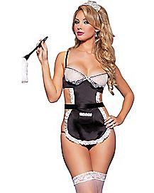 French Maid Apron Bedroom Costume
