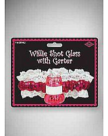 Willie Bachelorette Shot Glass Garter 1 oz