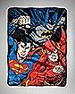 Trio Justice League Fleece Blanket