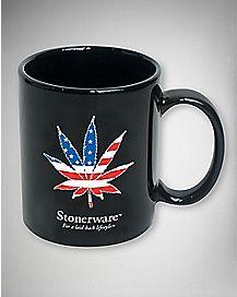 Stonerware American Flag Mug 11 oz