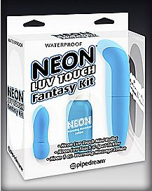 Neon Luv Touch Fantasy G Spot Kit - Blue