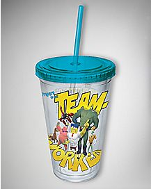 Team Worked Spongebob Cup with Straw 16 oz