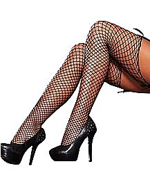 Hustler Industrial Diamond Net Thigh High Stockings