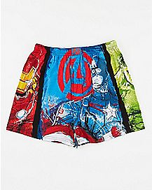 Marvel Mens Knit Boxers
