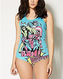 Marvel Lady Tank and Underwear Set