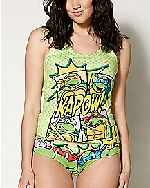 Teenage Mutant Ninja Turtles Ladies Tank and Underwear Set
