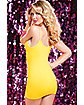 Yellow Seamless Slash Dress