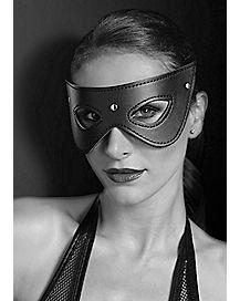 Faux Leather Stud Eye Mask