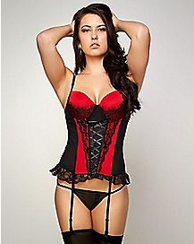 Front Lace Bustier and G-String Set