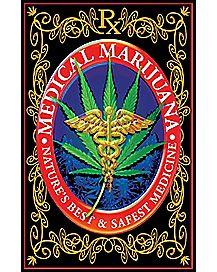 Medical Marijuana Blacklight Poster