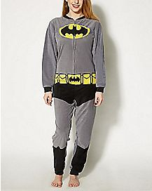 Adult Caped Batman One-Piece Pajamas