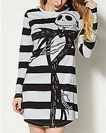 Striped Nightmare Before Christmas Sleep Shirt