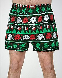 Christmas TMNT Knit Boxer