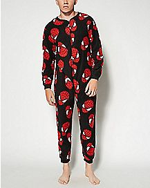 Adult Spider-Man One-Piece Pajamas - Marvel Comics
