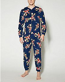 Adult Simpsons Santa One-Piece Pajamas
