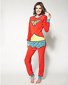 Wonder Woman Junior One Piece Pajamas