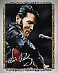 Leather '68 Elvis Tapestry Throw Blanket