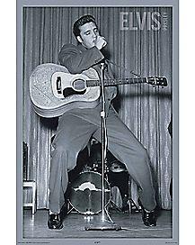 Live Elvis Poster