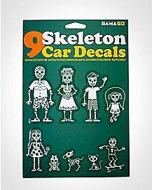 Family Skeleton Car Stickers